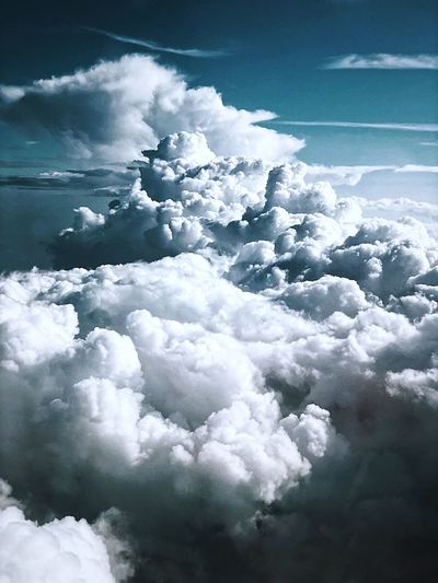 Cloud - Sky Cold Temperature Winter Beauty In Nature Nature Sky No People Day Tranquility Scenics - Nature Tranquil Scene White Color Aerial View Cloudscape Outdoors Environment