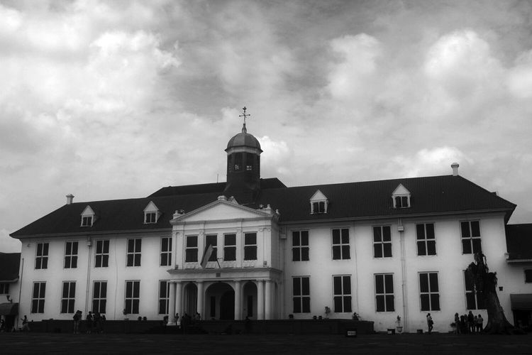 Former Stadhuis (city hall) of Batavia. Old Jakarta Historical Building Historical Site Kota Tua Black And White Enjoy Jakarta