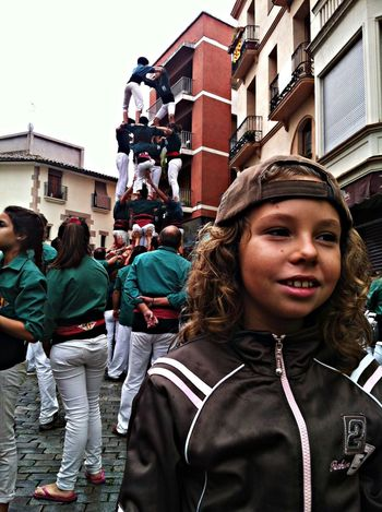 Zoe with human's castel. identity of Catalonia