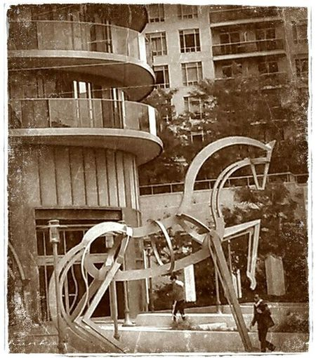 Mississauga Marylin Monroe Towers Square One Sculpture Streetphotography Street Photography Vintage Look