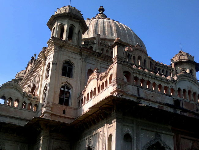 Architecture Blue Building Exterior Built Structure Clear Sky Cupola Day Dome Finding New Frontiers Heritage Building Historical Building History Indian Culture  Low Angle View Lucknow Medieval Minaret Monument Nawaboflucknow No People Outdoors Sky Stuccotexture Travel Destinations Neighborhood Map