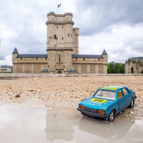 Peugeot Matchbox 305 peugeot 305 1981 - autocollants : Canon, Elf, ECCO, Michelin, carrosserie Borgna Lausanne, ParisRhone, Francorchamps .