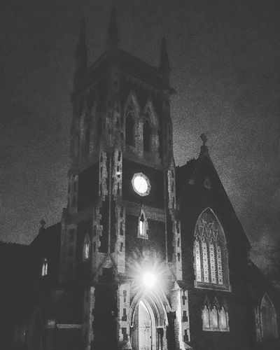 A rather spooky looking St James's Church Wollaston Instagood Igers IGDaily Instapic Stourbridge Wollaston Churches Church Towers Religion Religious  Blackandwhite Monochrome Dark Cofe Blackcountry Nighttime Shadows Night