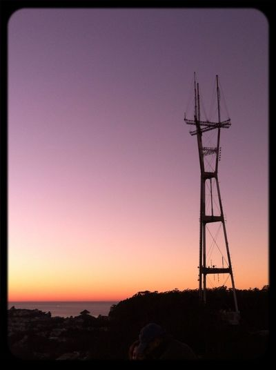 #sutrosunset Tower San Francisco Sunset Silhouettes Sutro Sunset
