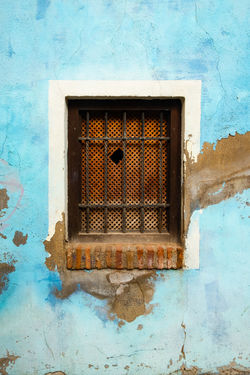 Granada Granada, Spain Minimalist Architecture The Week on EyeEm Architecture Blue Building Building Exterior Built Structure Close-up Day Low Angle View Metal Minimalism No People Old Outdoors Pattern Protection Rusty Security Textured  Wall - Building Feature Weathered Window