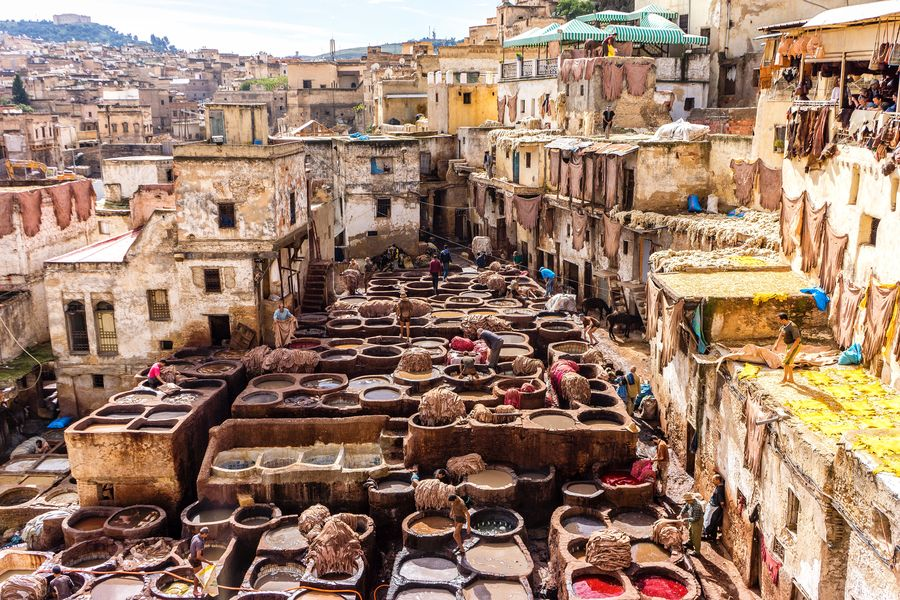Leather Tannery Africa Architecture Coloring EyeEm Best Shots EyeEm Gallery EyeEmNewHere Fes Leather Morocco Outdoors Tannery Travel Working