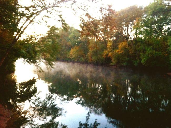 River Fog Outdoors Autumn