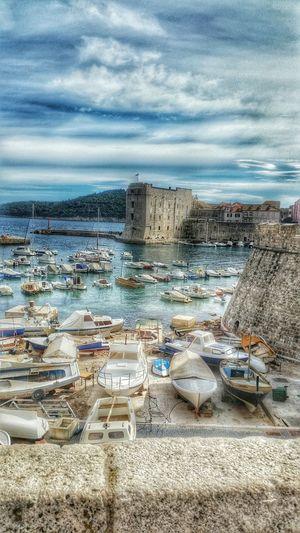 Dubrovnik Dubrovnik, Croatia Croatia Boats Boat Oldtown Sea Sky Clouds Blue