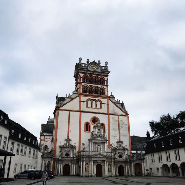 Mathiaskirche Trier City Sky Building Exterior Built Structure Architecture Cloud - Sky Building Low Angle View Nature Travel Destinations Religion Place Of Worship Day Belief Travel City Spirituality Tree The Past No People Outdoors