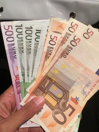Currency Money Euro Paper Currency Number Dollar