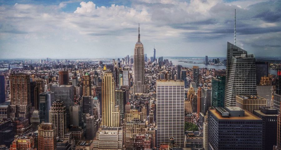 Cityscapes New York City landscape view rock