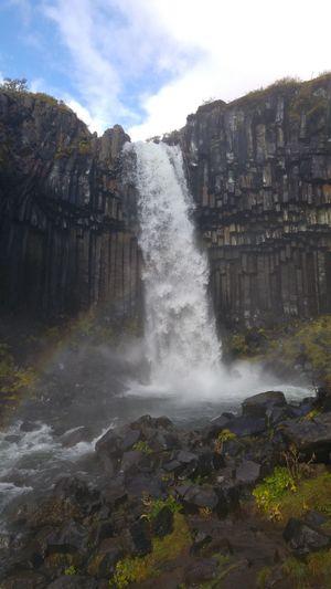 Svartifoss Water Nature Splashing No People Scenics Waterfall River View Iceland Beauty In Nature Outdoors