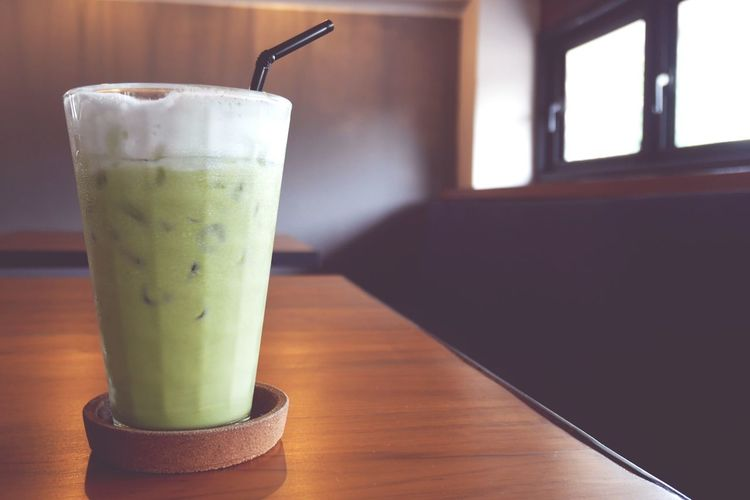 Ice Tea Cafe Cafe Time Green Milk Tea Milk Tea Ice Green Tea Ice Green Mik Tea Macha Green Tea Drink Smoothie Cold Temperature Drinking Glass Frothy Drink Drinking Straw Close-up Food And Drink