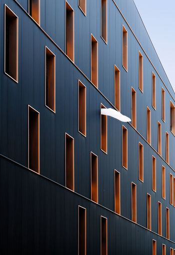 Architecture Wind Curtain Perspective Architecture Built Structure Pattern Full Frame Building Exterior No People Day Building City Modern Metal Window Wall - Building Feature Office