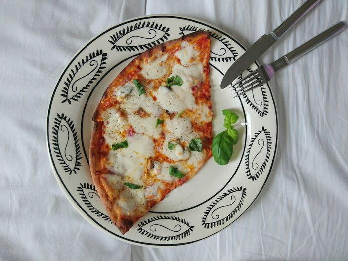 Pizza Leftovers Havingacold Människobyn Mozzarella