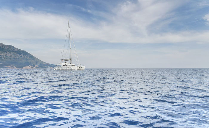 Adriatic Sea Beauty In Nature Catamaranboat Cloud - Sky Day Horizon Over Water Mast Mode Of Transport Nature Nautical Vessel No People Outdoors Sailing Scenics Sea Sky Tranquil Scene Tranquility Transportation Water