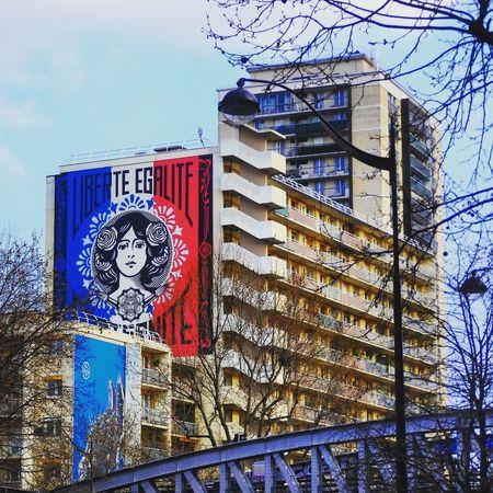 Paris, France  Architecture Day Outdoors City Building Exterior Graffiti Streetphoto_color Streetart/graffiti Paris 13è No People