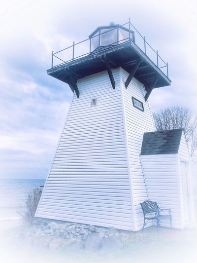Sailors beacon. Low Angle View Architecture Built Structure Sky Building Exterior No People Outdoors Cloud - Sky Lighthouse IPhoneography Horizon Over Water Scenics EyeEm Best Shots