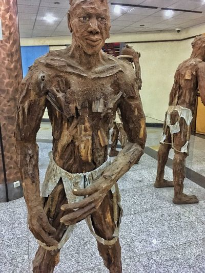 Dakar Representation Human Representation Sculpture Art And Craft Male Likeness Statue Creativity Architecture Craft History No People Indoors  The Past Day Built Structure Museum Tourism Government Travel
