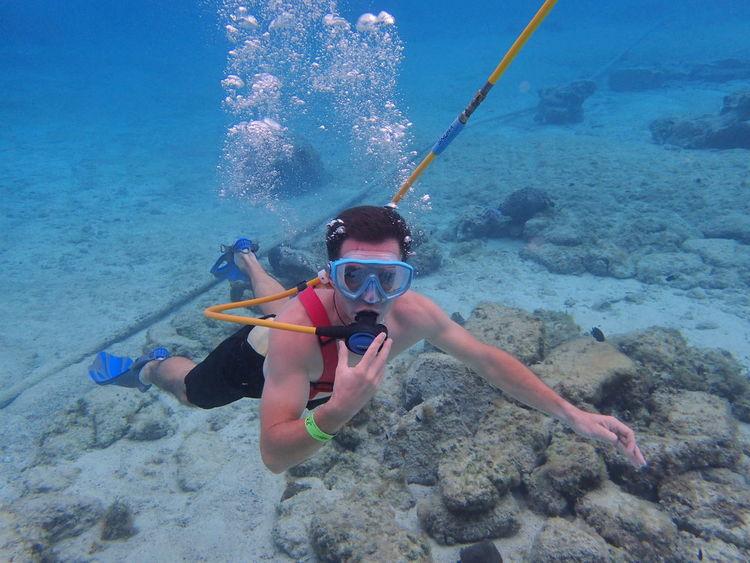 Snuba Underwater UnderSea Leisure Activity Sea Adventure Water Sea Life Swimming Exploration