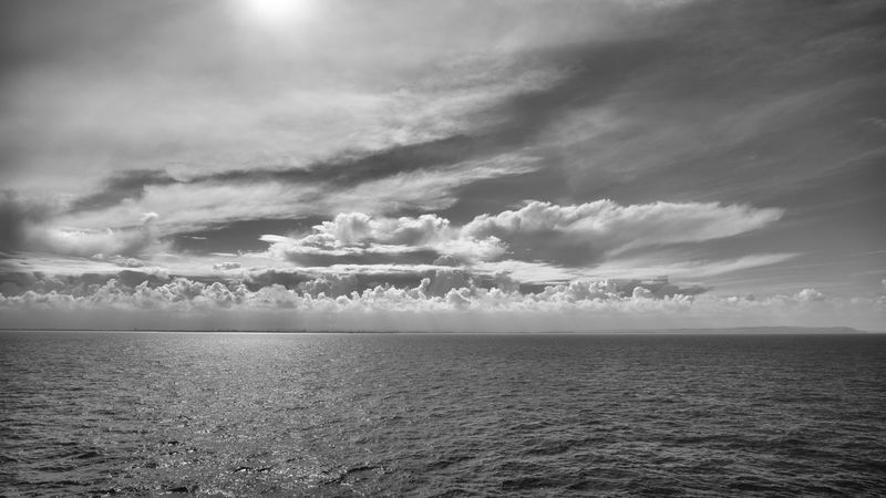 Walimex 12mm Beauty In Nature Black And White Day Horizon Over Water Idyllic Nature No People Outdoors Scenics Sea Sky Tranquil Scene Tranquility Water