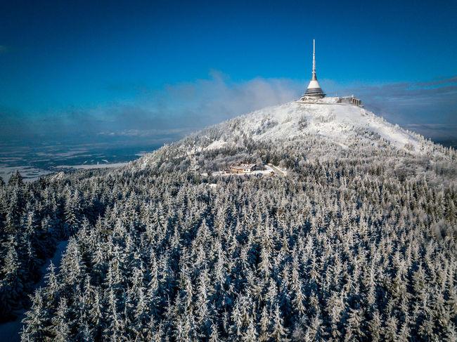 Czech Czech Republic Snow Trees Winter Countryside Fromwhereidrone Jested Liberec Snow