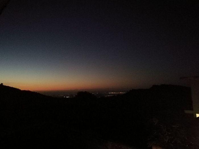 Sunset backyardview sky