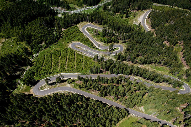 Aerial view of Transalpina mountain road Drone  Green Green Color Nature Romania Transfagarasan Road Transylvania Travel Trip Aerial View Aerial,abyss, Birdseyeview Drone Photography Forest Landscape Mountain Summer Transalpina Road Winding Road