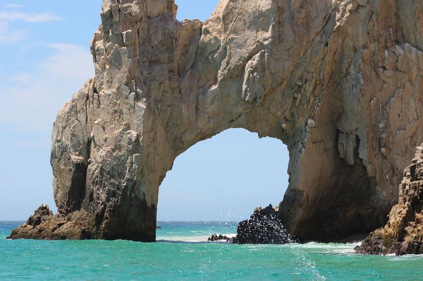 Beach Beauty In Nature Blue Cabo Cabo San Lucas Clear Sky Cliff Day Eco Tourism Horizon Over Water Landscape Natural Arch Nature Outdoors Rock - Object Rock Formation Scenics Sea Sky Travel Destinations Vacations Water Been There.