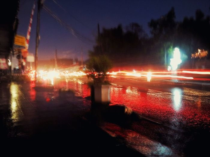 Illuminated Rainy Season Water Night Mi4iphotography Mi4icamera Mi4i Dark Traffic Blur Photography Glowing No People Reflection Outdoors Creative Light And Shadow