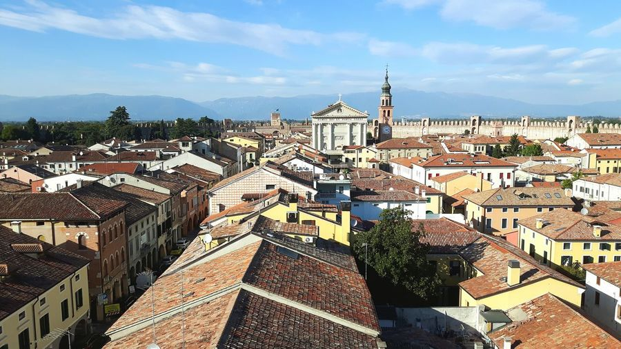 Cittadella, Italy Panorama View From Above Cityscape Town Walled City Cittadella Veneto Italy Beauty Beautiful Romantic Lost In The Landscape Sky Church Tranquil Scene Backgrounds Been There. Architecture Roofs Middle Ages Cultural Heritage EyeEm Best Shots Eyeem Architecture Lover EyeEm Gallery Architecture_collection