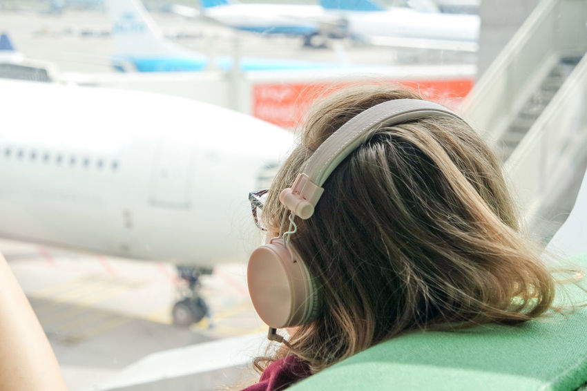 Glasses Listening Listening To Music Traveling Air Vehicle Airplane Airplanes Airport At The Airport Blond Hair Close-up Day Earpods Hair Style Headshot One Person Outdoors Relaxing Time Teenage Girls Through The Window Transportation Women Young Adult