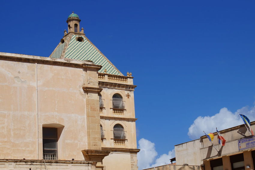 point of view in Marsala Architecture Blue Sky Building Exterior City Lights Day Marsala Normanno Outdoors Pietre Sicily Sky Sky And Clouds Travel