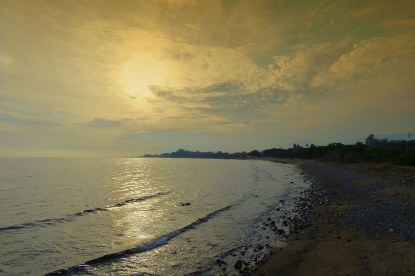 Beach Beauty In Nature Day Horizon Over Water Nature No People Outdoors Sand Scenics Sea Sky Sunset Tranquil Scene Tranquility Water