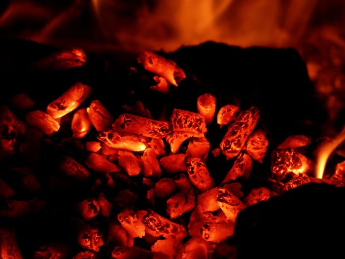 No People Red Night Outdoors Fire Hot Burningflame Burning Coals