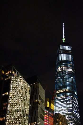 One world trade Architecture City Skyscraper Building Exterior Tall - High Tower Low Angle View Night Built Structure Travel Travel Destinations Illuminated Modern No People Outdoors Urban Skyline Sky City At Night Traveling Throughmyeyes Canonphotography
