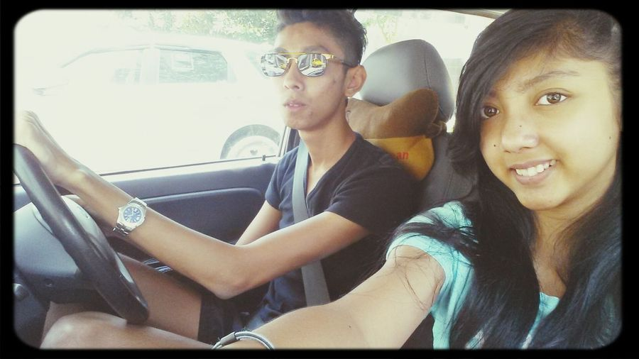 someone just got his driving licence! Congratulations bro! :D My Own Personal Driver Chauffeur