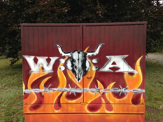 Streetart Streetart/graffiti Wacken Open Air Logo Heavy Metal Metalhead in Reinbek
