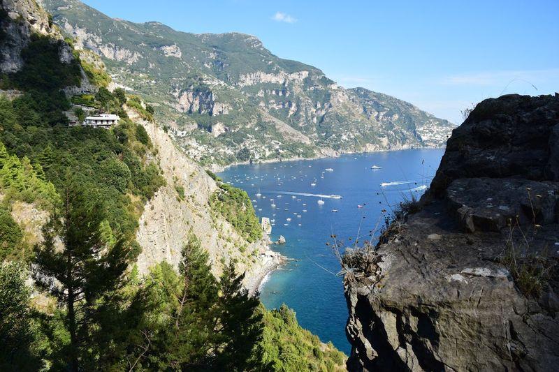 Mountain Water Nature Sea Beauty In Nature Cliff Travel Nikon D7200 Nikon Photography CLR Imagery EyeEmNewHere Amalfi Coast
