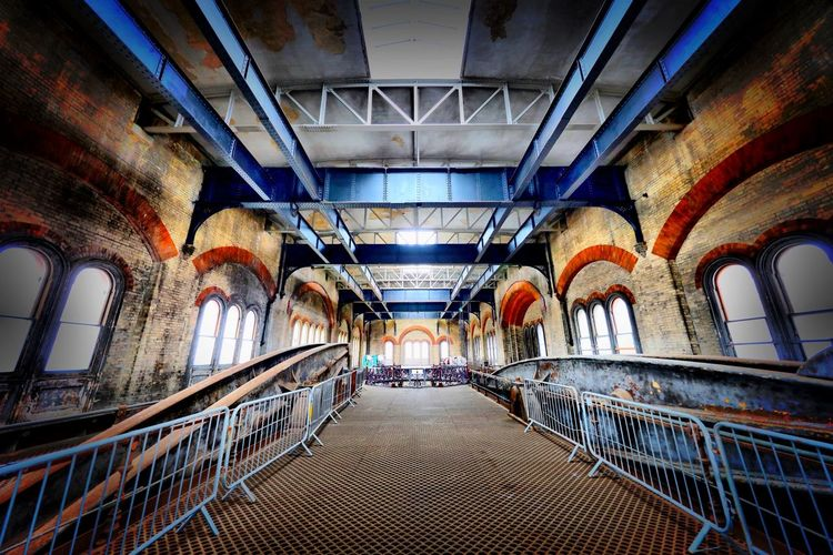 Crossness Pumping Station Indoors  Architecture Railing Lighting Equipment The Way Forward Arch Ceiling