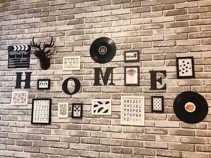 Communication Wall Wall - Building Feature Brick Wall Brick Sign No People