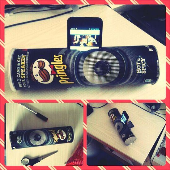 pringles boombox Sound  Tinkering Speaker Boom Pringles Smartphone