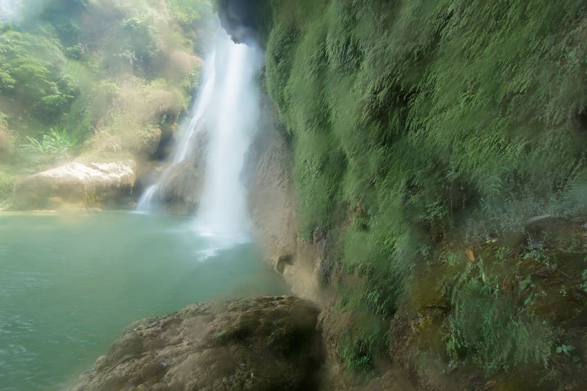 teerosu waterfall. Beauty In Nature Day Eerosu Flowing Flowing Water Geology Green Color Idyllic Motion No People Outdoors Physical Geography Plant Power In Nature Remote Rock Rock Formation Scenics Teerosu Waterfall Tranquil Scene Tranquility Water Waterfall ทีลอซู