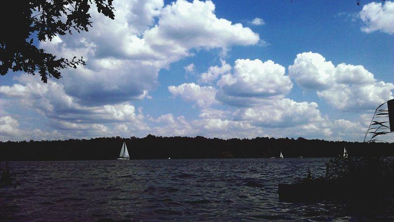 Sailing Sea#sky#sail#sunset#boat Clouds Summerinberlin