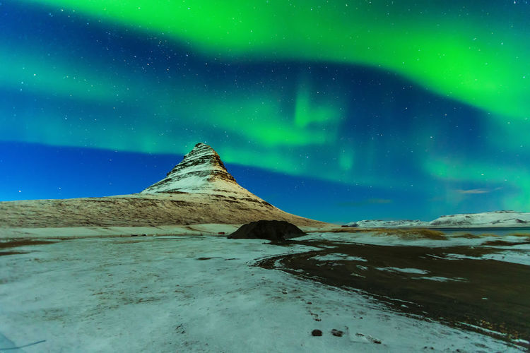 Aurora Borealis Iceland Kirkjufell Backgrounds Landscape Nothern Lights  Tourism Travel Destinations First Eyeem Photo