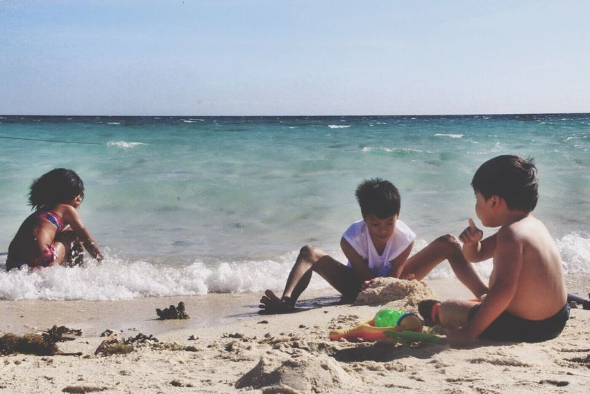 Sunburn, Camiguin White island White Sands Beach Sand & Sea Playing Family Sky Sunny Sunburn Son Daughter Vacations Camiguin White Island Philippines