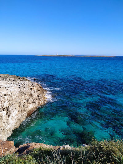 Menorca Landscape_photography Landscape Outdoor Photography Outdoor Water Clear Sky Sea Beach Blue Sunny Sky Horizon Over Water Hot Spring Turquoise Seascape Geology Rocky Coastline Surf Wave Turquoise Colored Coast Eroded Rugged Physical Geography