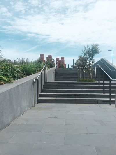 These stairs go up to the war memorial The Way Forward Sky No People Outdoors Footpath Stairs Steps Go This Way Concrete Steps