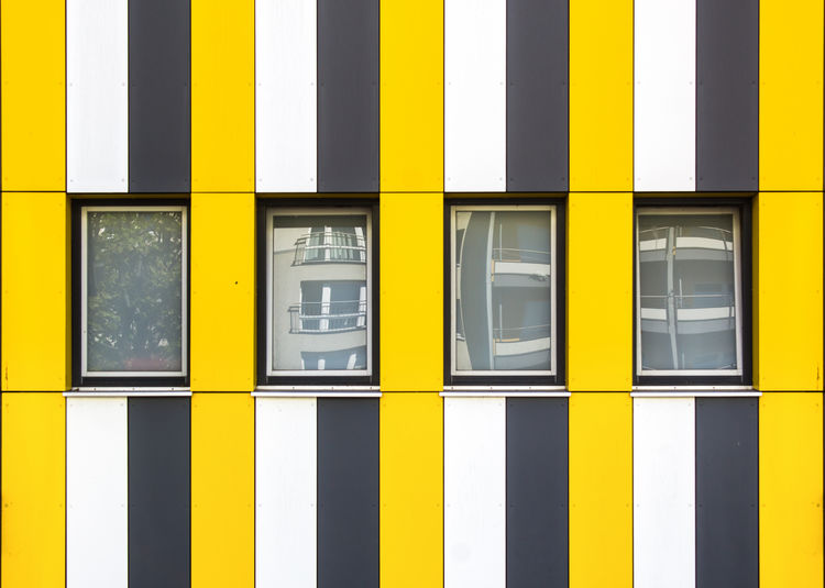 Minimal Berlin. GIULIA FILIPPI PHOTOGRAPHY Architecture Berlin Building Building Exterior Built Structure City Close-up Colors Geometric Shape Germany House Lines Minimal Minimalism Minimalist Architecture Outdoors Pattern Photography Photooftheday Picoftheday Repetition Urban Urban Geometry Window Yellow