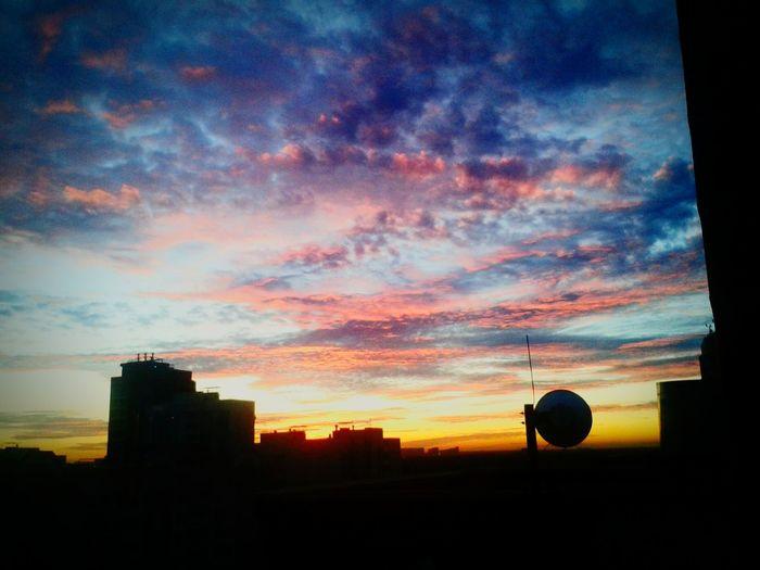 Закат из окна First Eyeem Photo